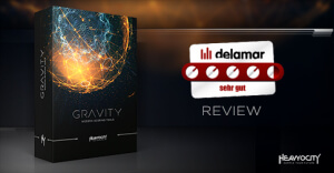 """Heavyocity GRAVITY Review: Delamar.de says """"the sound design is awesome."""" Learn more at Heavyocity.com/GRAVITY"""