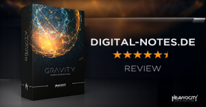 GRAVITY Review: Digital-Notes.de awards GRAVITY 5.5/6 stars, learn more at Heavyocity.com/GRAVITY